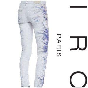 NWT $322 IRO Nedra Splash Blue Jeans
